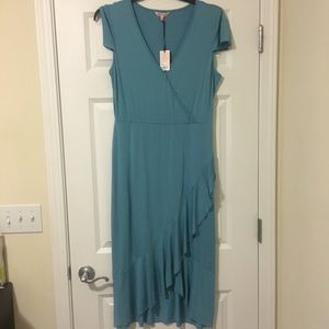 New Large Juicy Couture Blue Tiered Maxi Dress
